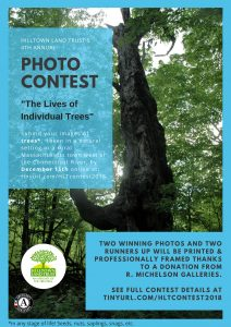 Poster announcing Hilltown Land Trust' 2018 Photo Contest