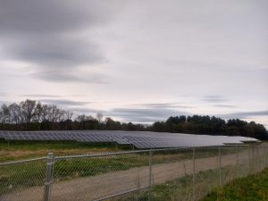 solar array behind fence