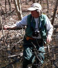 Wildlife Biologist Molly Hale at the Vernal Ponds Hike